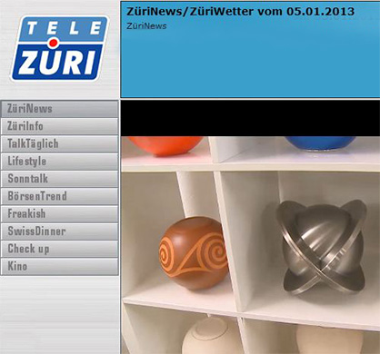 "URNE.CH ""cosmicball collection"" auf Tele Züri"